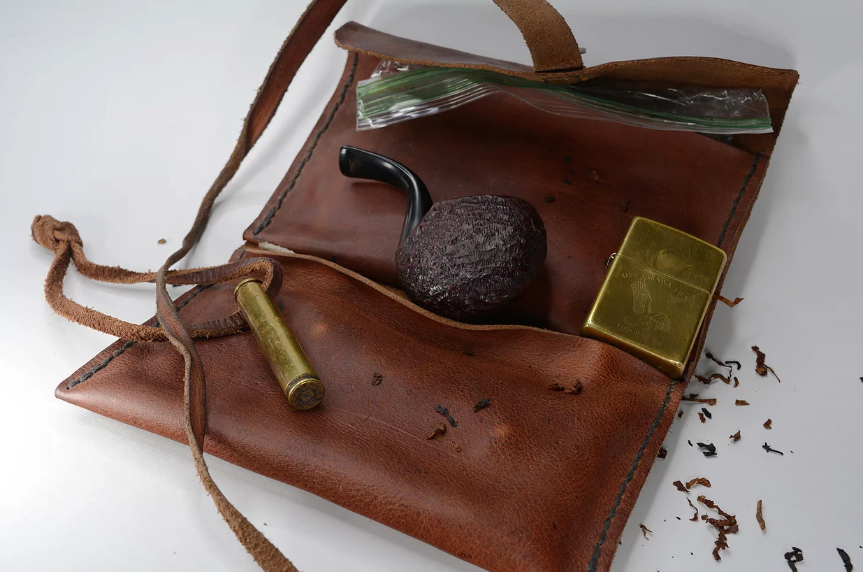 Handmade tobacco pouch by Survival Hardware